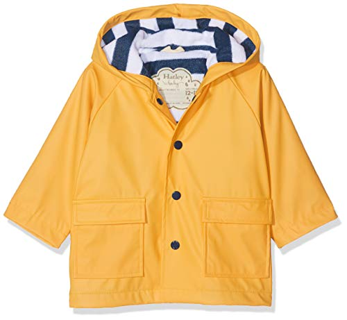 Hatley Baby-Jungen Printed Long Sleeve Raincoat Regenmantel, Gelb (Yellow 700), 9-12 Monate...