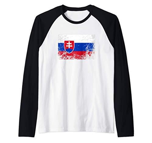 Bandera de eslovaquia - Slovakia Flag Camiseta Manga Raglan