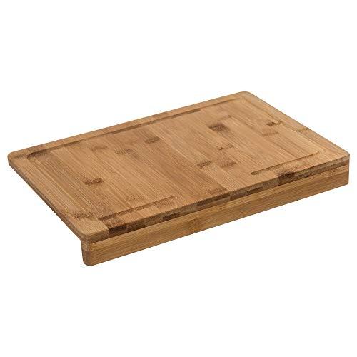 Secret de gourmet Planche à découper Bambou avec Rebord 35 x 24 cm