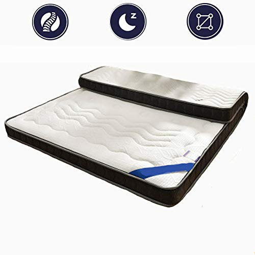 ZLBIN Mattress Toppers , Latex Mattress 3D Breathable Mesh Skin-Friendly Natural Latex Layer,10In White,180 * 200CM