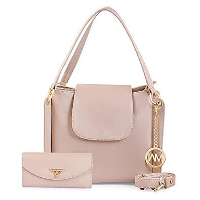 WOMEN MARKS Women's Shoulder Bag With Sling Bag (Set of 2) (NSB1066_Off-White)