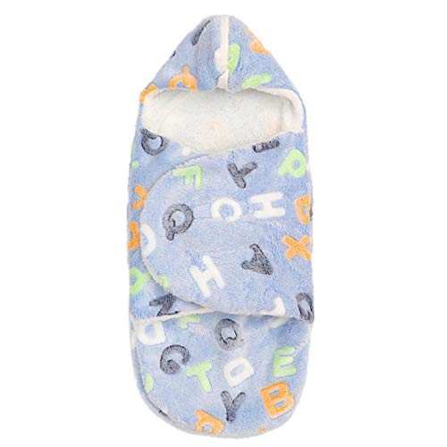 Syeed Newborn Baby slaapzak Baby kinderwagen slaapzak warm wattenschijfje Winter Fleece Swaddle Sack Wrap gewaad