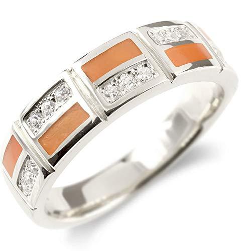 [アトラス]Atrus リング レディース 10金 ホワイトゴールドk10 キュービックジルコニア エポキシ樹脂 指輪 エンゲージリング 幅広 レンガ調 22号
