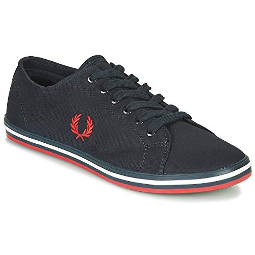 FRED PERRY Kingston Twill Zapatillas Moda Hommes Azul - 43 - Zapatillas Bajas