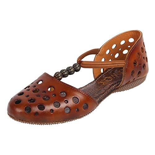 Catwalk Women's Tan Flat Slip Espadrille 6 UK/India (38 EU)(3739T-6)