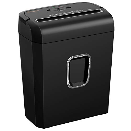 Fantastic Deal! Bonsaii 6-Sheet Micro-Cut Paper Shredder, P-4 High-Security for Home & Small Office ...