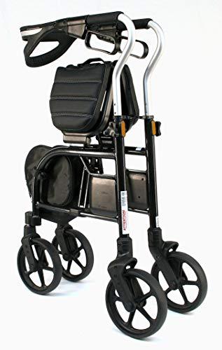 Evolution Trillium Lightweight Medical Walker Rollator with Seat, Large Wheels, Brakes, Backrest, Basket for Seniors Indoor Outdoor use