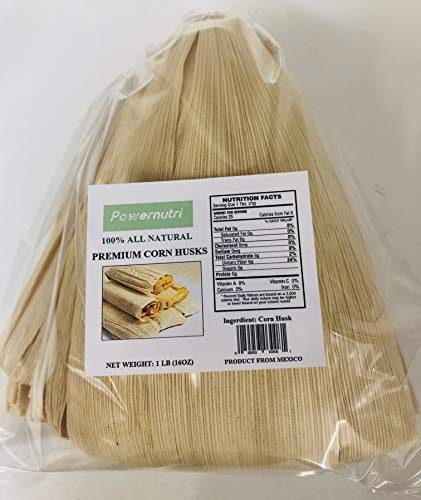 1 LB (16OZ) Corn Husks for Tamales Wrappers ,Super Fresh,ALL NATURAL PREMIUM