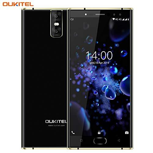 Oukitel K3 Pro 5.5'Dual 2.5D Screen MT6763 Octa Core 4GB 64GB 6000mAh Smartphone 4 Telecamere 13MP + 2MP Cellulare Doppia fotocamera (Nero)