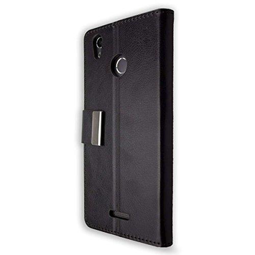 caseroxx Hülle für das Gigaset GS270, Taschen in verschiedenen Varianten (Flipcase, TPU-Bumper & Bookstyle) & (Bookstyle-Tasche, schwarz)
