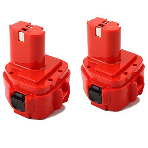 2 piezas Shentec 12V 3.5Ah Ni-MH Batería para Makita PA12 1222 1220 1235 1233 1234 1235B 1235F 192696-2 192698-8 192698-A 193138-9 193157-5 4013D