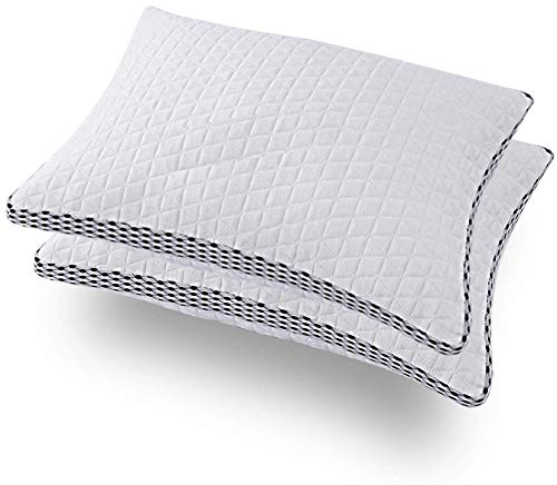RONKOFF Shredded Memory Foam Pillow for Sleeping Adjustable Bamboo Cooling Pillow with 4D Mesh Design Hypoallergenic Washable Breathable Cover - Adjustable (2 Pack King)