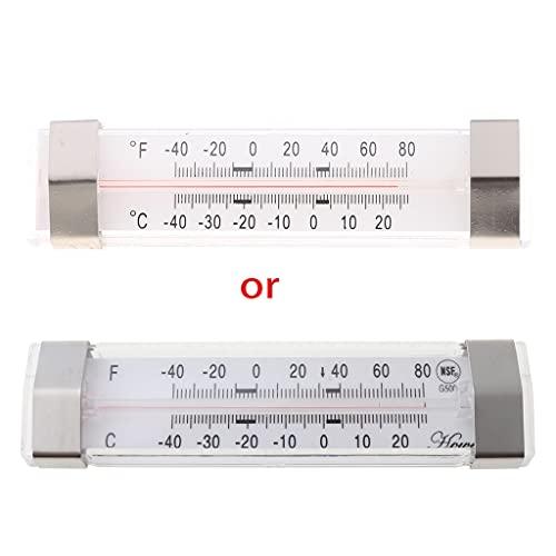 MSEKKO Termómetro para refrigerador y congelador -40C a 27C L Termómetro para refrigerador Termómetro Digital Refrigerador con imán de Soporte Ajustable -40F a 80F
