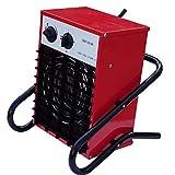 ZHAO Industrial/Calentador Comercial con 3 Niveles, for Trabajo Pesado Calentador eléctrico for el almacén Garaje Taller 6000 W, Rojo