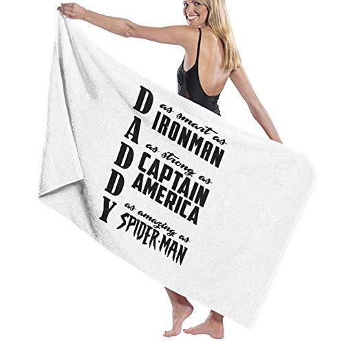 U/K Toalla de baño Superhero Daddy de secado rápido