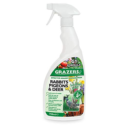 Grazers ltd GRAZERS G1-Effective Against Damage from Rabbits, Pigeon, Deer Etc 750ml Ready to Use Eco Spray, Nylon/A