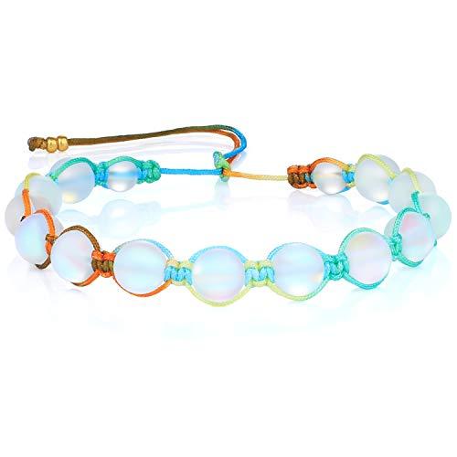 KANYEE Bracelets De Perles Lune Bracelet Rang Coloré Bracelets De Corde Faits à La Main pour Femmes – 23C