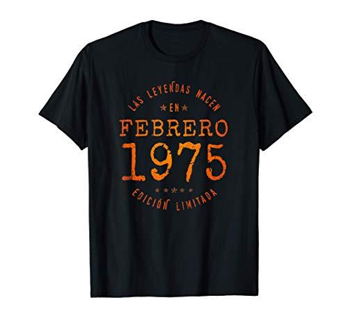 Las Leyendas nacen en Febrero de 1975 - Regalo de 46 años Camiseta