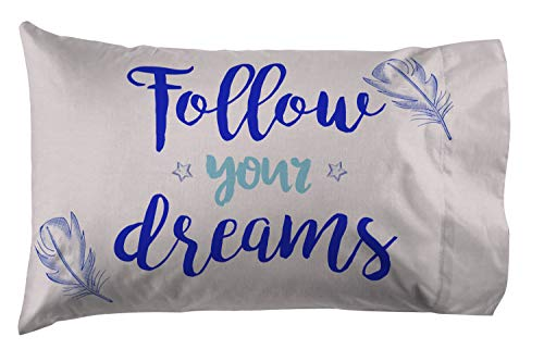 Jay Franco Disney Dumbo Follow Your Dreams 1 Pack Pillowcase - Double Sided Kids Super Soft Bedding (Official Disney Product)