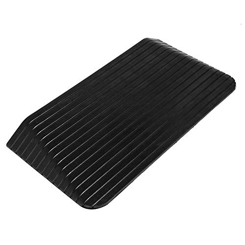 Curb Ramps, Portable Heavy Duty Threshold Ramp for Car Motorcycle Rise Solid Rubber Power Wheelchair Threshold Ramp Doorway 43.31