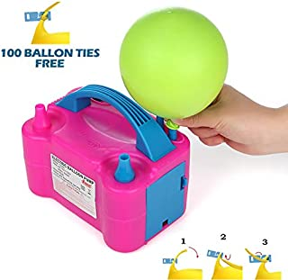 Party Zealot Electric Balloon Inflator Air Pump Dual Nozzles Balloons Blower US Standard Plug for Balloon Arch, Balloon Column Stand, and Balloon Decoration