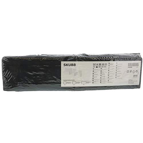 Ikea Drawer Storage Organizer Closet Box Bins Skubb (6 Pack) Black
