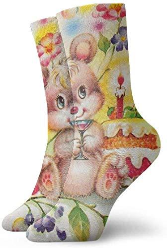 Calcetines divertidos de la tripulación loca lindo ratón bebida vino 3D impreso invierno deporte atlético calcetines cm largo personalizado regalo calcetines 30 cm