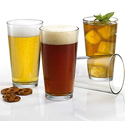 Attractive Highball Glasses Clear Heavy Base Tall Pub Glasses [Set of 12] Drinking Glasses for Water, Juice, Beer, Wine, and Cocktails 16oz.