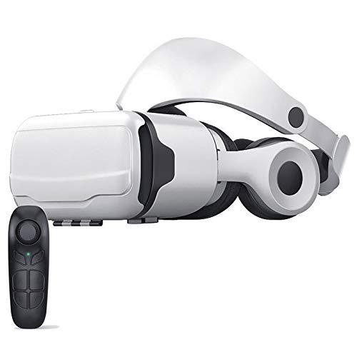 Bias&Belief VR Headset mit Fernbedienung,Virtual Reality-Brille,Abnehmbares Headset,Anti-Blaue Linse Schützt Die Augen,Lichtdurchlässigkeit 99,7%,für 4,7-6,53 Zoll Handy,B