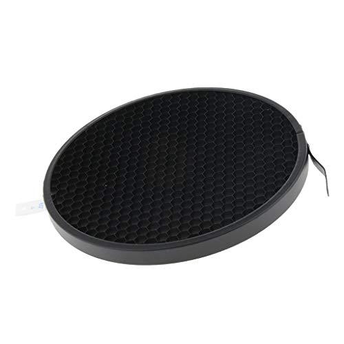 P Prettyia Kit de Malla de Rejilla de Panal de 60 ° para Luz Estroboscópica Difusor Reflector Estándar de 7 Pulgadas