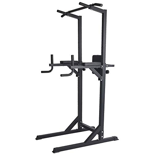 Livebest Power Tower Heavy Duty Adjustable Pull Up Bar Tower Multi-Function Strength Training Dip Stand Workout Station Fitness Equipment for Home Gym...