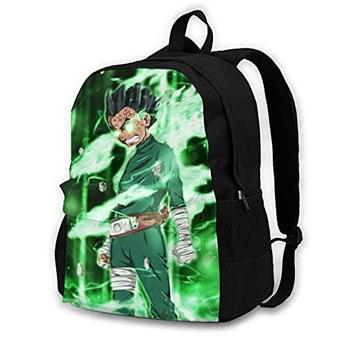 Backpack Naruto Rock Lee School Bags Student Bookbag Outdoor Hiking Backpacks Laptop Bags