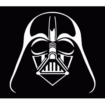 1079 Star Wars Darth Vader Passenger Series Perforated PVC Window Decal FanWraps Inc