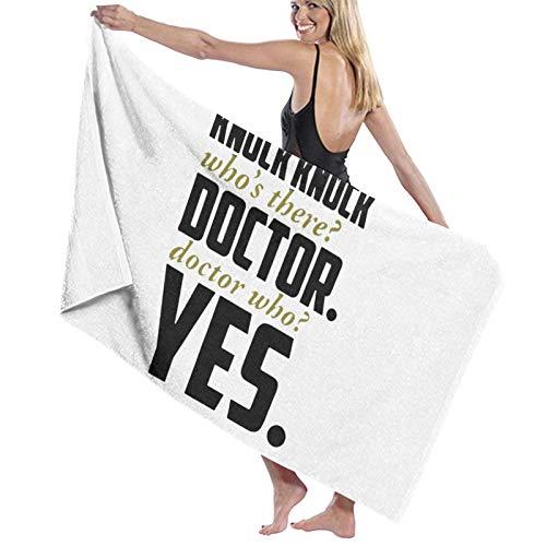 Toalla de baño, 80 x 130 cm Knock Doctor Sí, toallas de baño súper absorbentes para playa, gimnasio, playa, spa, spa