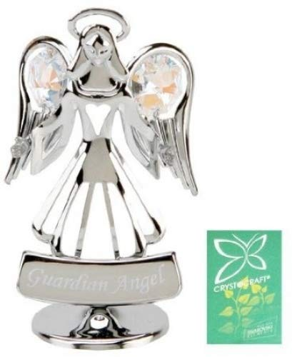 Crystocraft Keepsake Gift Ornament - Guardian Angel with Swarvoski Crystal Elements