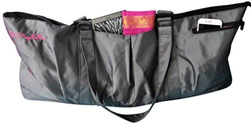 Yogisac® Tasche für Yogamatte, extragroße Sporttasche, umweltfreundlich, mit Mehreren Taschen und Reißverschlüssen, perfekt für Damen mit Yoga-, Pilates-, Bikram-Yoga-, Tanzausrüstung (Grey)