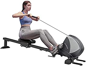 Rinkmo Rowing Machines for Home Use with Magnetic Resistance, Rower Exercise Equipment for Full Body Fitness, Home Gym Workout Row Machine, Foldable Design, LCD Monitor, Adjustable 8 Levels Resistance