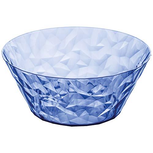 koziol Salatschale 3,5 L Crystal 2.0,  Kunststoff, transparent hellblau, 27 x 27 x 11,5 cm