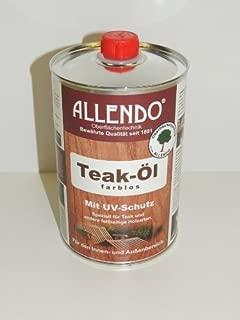 Allendo Teak-Öl 1 Liter mit UV-Schutz farblos