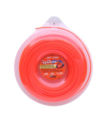 Cyclone CY095D1-12 Commercial Grade .095-Inch-by-285-Foot Spool of 6-Blade 1-Pound Grass Trimmer Line, Orange