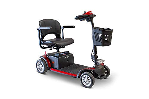 EWheels EW-M50 Long Range Up to 15 Miles Lightweight 4-Wheel Mobility Travel Scooter 300Lbs Red