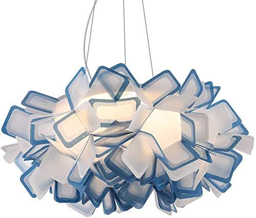 YFAZTS Italia CLIZIA Lampadario Origami Castagno Lampada a Sospensione Nordic Simple Home Illuminazione a LED Soggiorno Sala da Pranzo Acrilico Lampadario,Blu