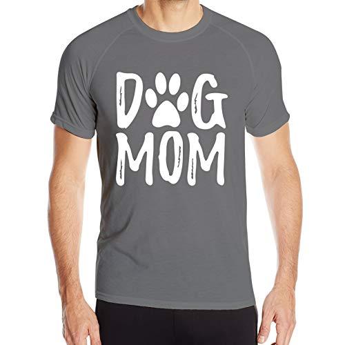 WAUKaaa Camiseta de manga corta con cuello redondo para hombre, diseño de letra de perro, talla Xxl
