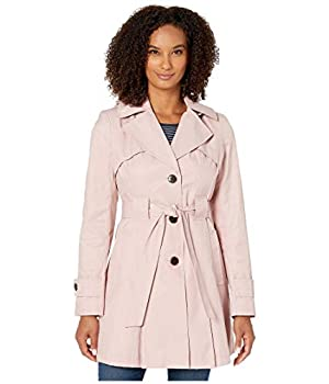 VIA SPIGA Single Breasted Hooded Belted Trench Peony LG