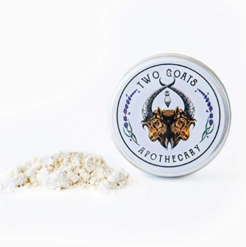 Travel Dry Shampoo Powder | Eco Friendly, All Natural Root Touch Up, Vegan Ingredients | Hair Powder Volumizer | For Blonde and Light Hair. (Gylden) Two Goats Apothecary