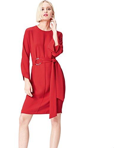 find. FP00947.2.1 vestido fiesta mujer, Rojo (Sports Red), 42 (Talla del Fabricante: Large)