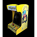 Doc and Pies Arcade Factory Classic Home Arcade Machine - Tabletop and Bartop - 412 Retro Games - Full Size LCD Screen, Buttons and Joystick (Yellow)