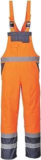 Portwest Contrast Bib and Brace - Unlined, Colour: Orange/Navy, Size: XL, S488ONRXL