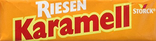 RIESEN Karamell-Riesen – (80 x 29g Packung) – Aromatische Karamell Bonbons mit Biss – Kaubonbonsgroßpackung für die ganze Familie