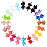 YHXX YLEN 20 Stück Baby Mädchen Haar Bogen Haar Bands Elastische Stirnbänder mit 4' Haar Bogen für Kleinkind Neugeborene …